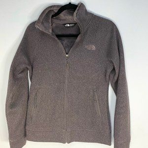 The North Face Women's Zip-up Fuzzy Insulated Gray